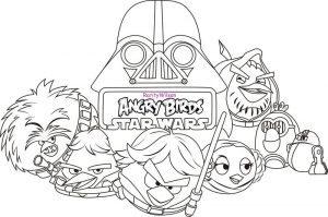 Angry bird star wars coloring page 1