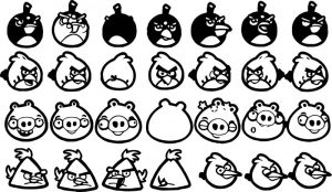 Angry birds coloring page 080