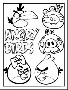 Angry birds coloring page printables free