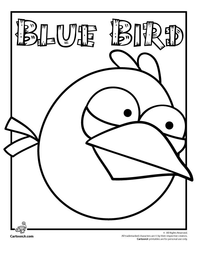 Angry Birds Coloring Pages Blue Bird