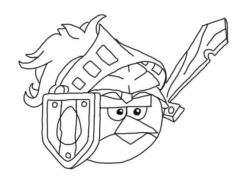 Angry Birds Coloring Pages Free 1