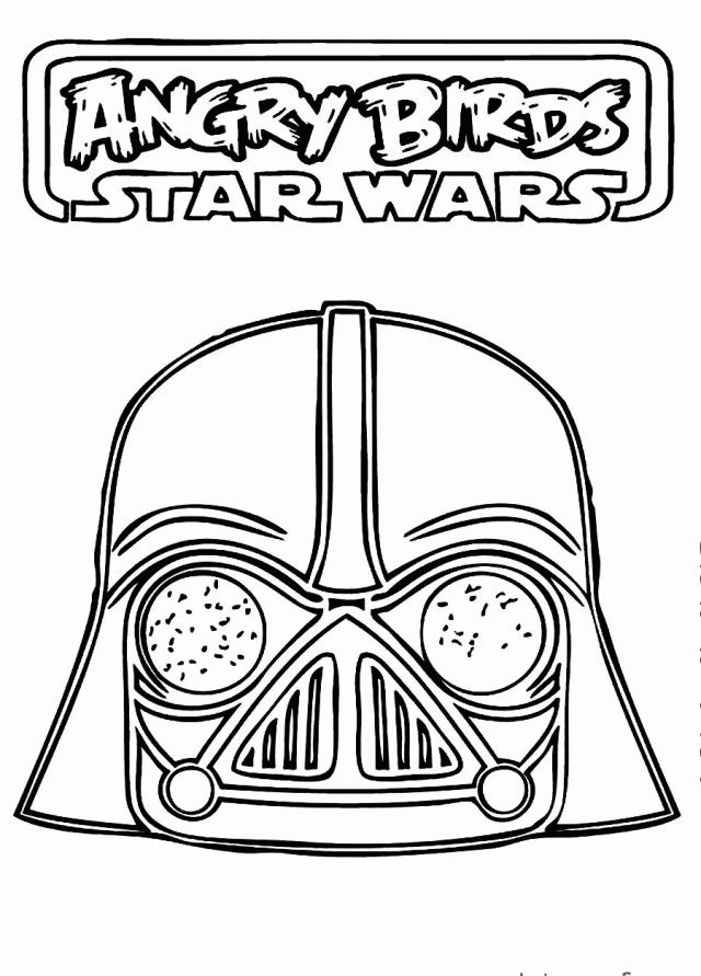 Angry Birds Darth Vader Coloring Pages