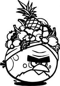 Angry birds fruit coloring page