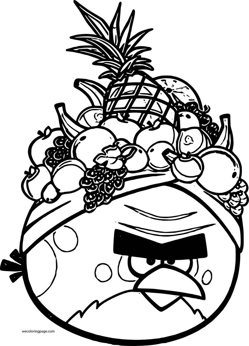 Angry Birds Rio Coloring Page