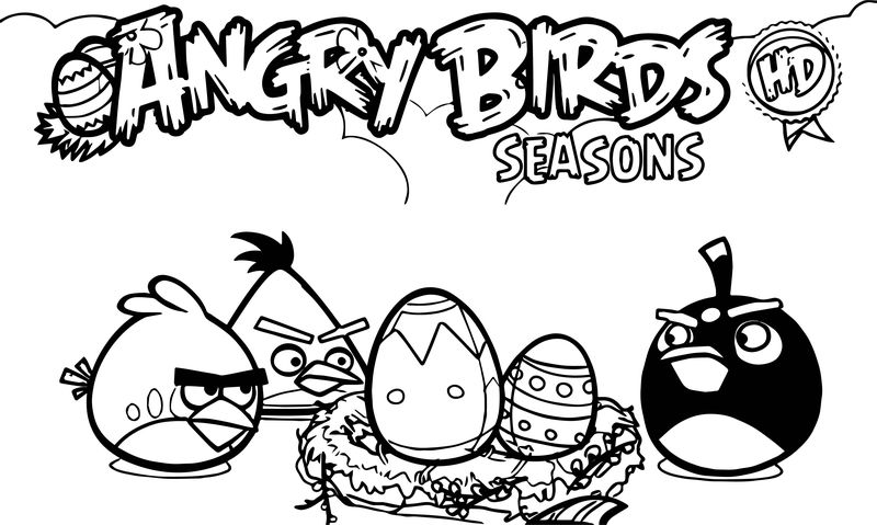 Angry Birds Seasons Hd Coloring Page