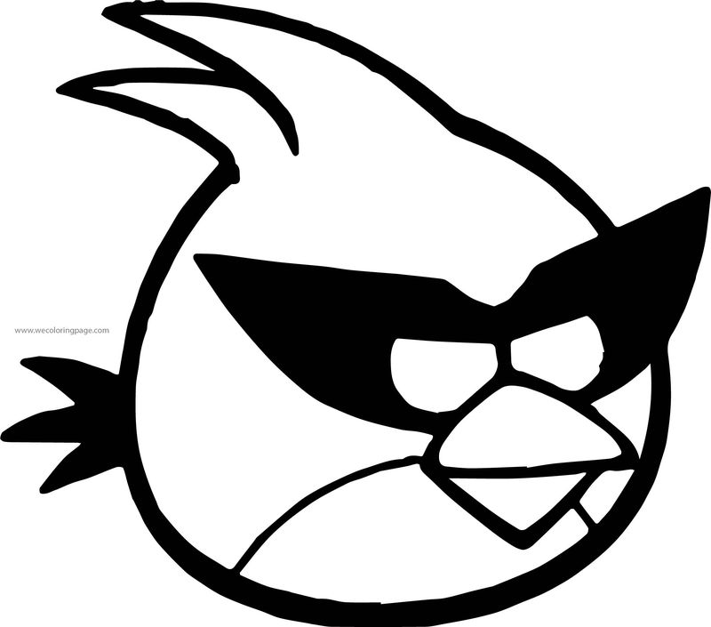 Angry Birds Space Guide Birds Red Coloring Page