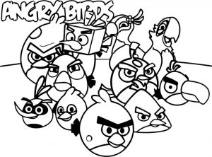 Angry birds wallpaper color coloring page