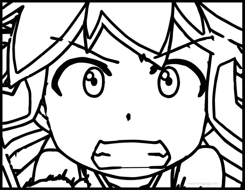 Angry Squid Girl Coloring Page