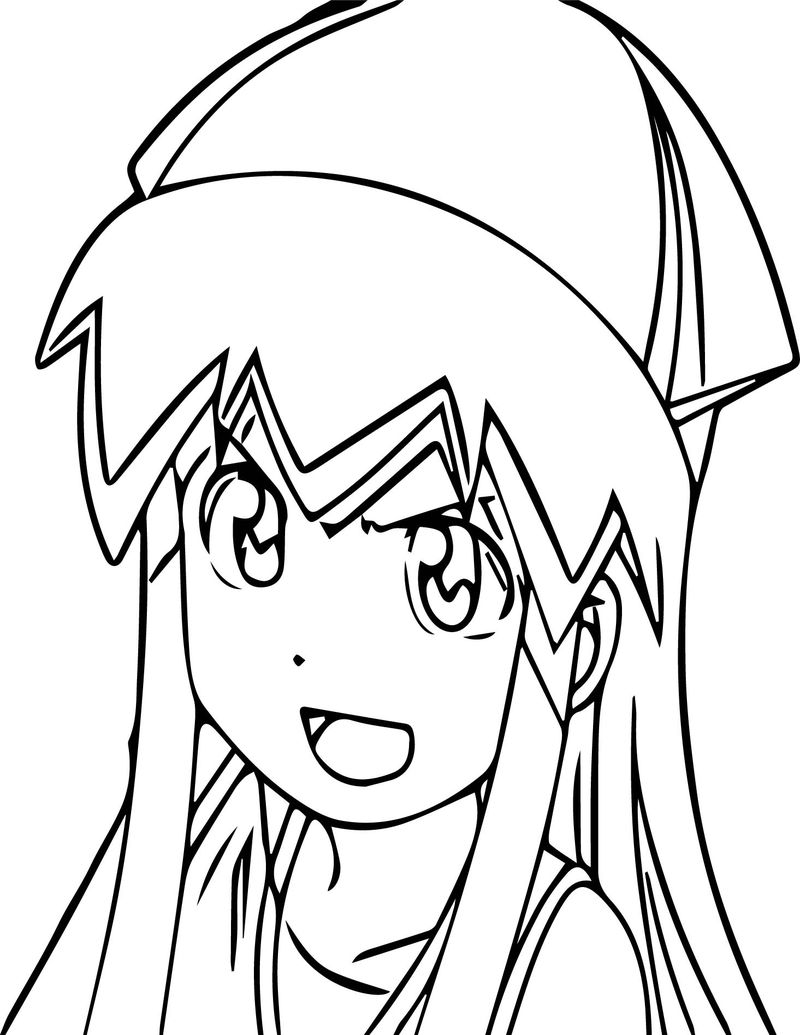 Angry Squid Girl Coloring Pages