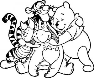 Animal best friends coloring page