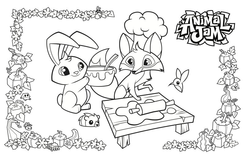 Animal Jam Baking Coloring Pages
