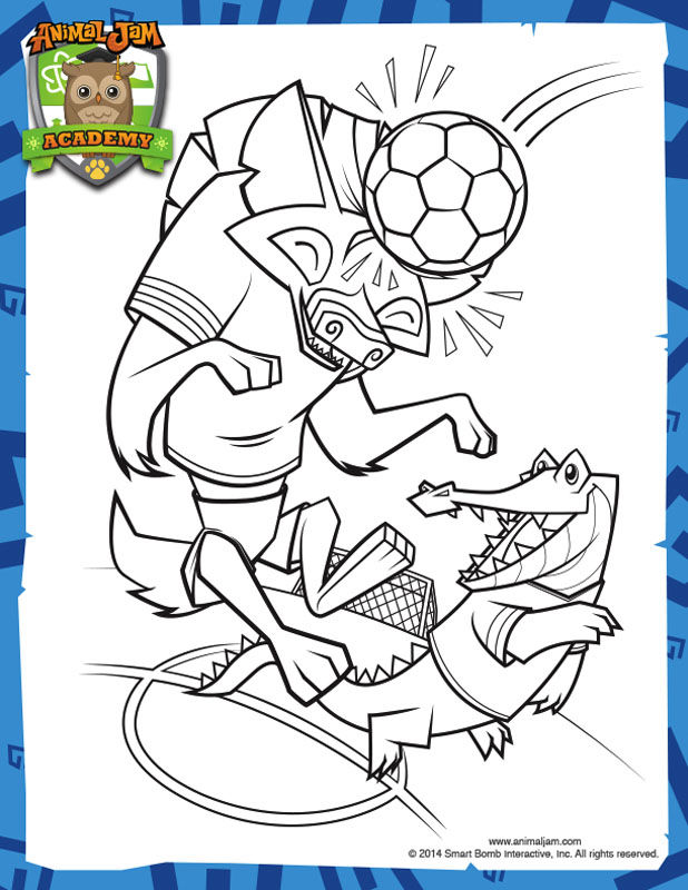 Animal Jam Soccer Coloring Pages