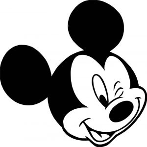 Animal kingdom mickey mouse face coloring page