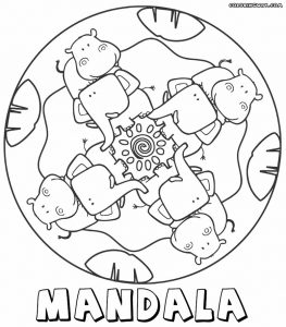 Animal mandala for kids