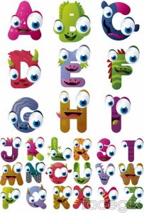 Animal shaped letters printout