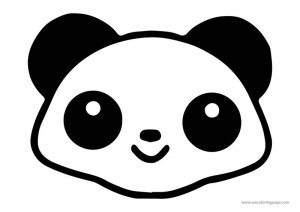 Animals panda face coloring page
