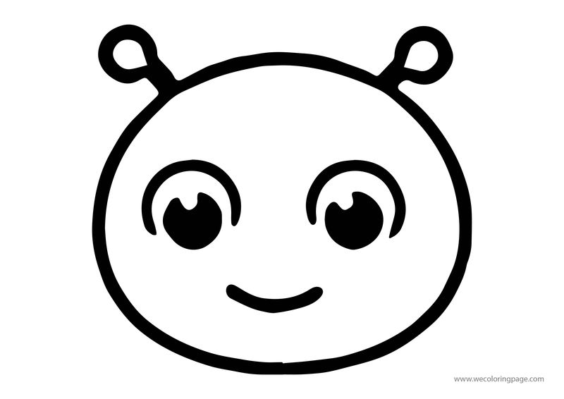 Animals Ufo Spaceman Face Coloring Page