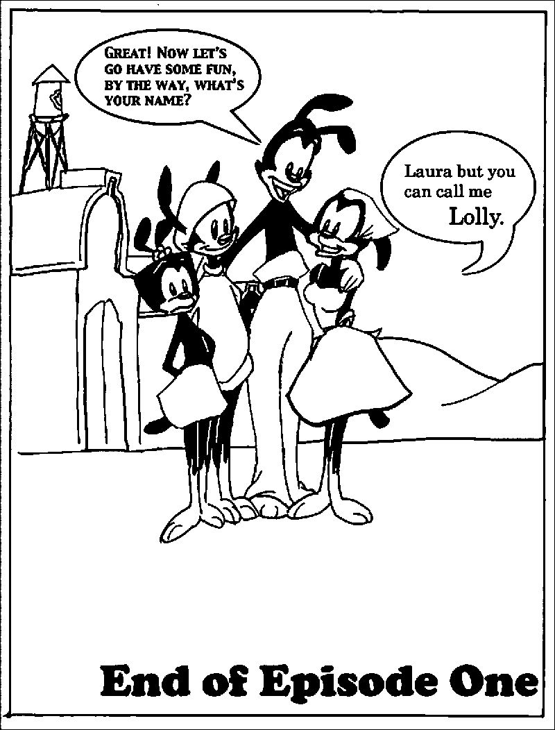 Animaniacs New Antics Page Nine Coloring Page