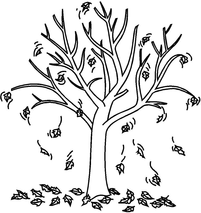 Animation Fall Coloring Pages