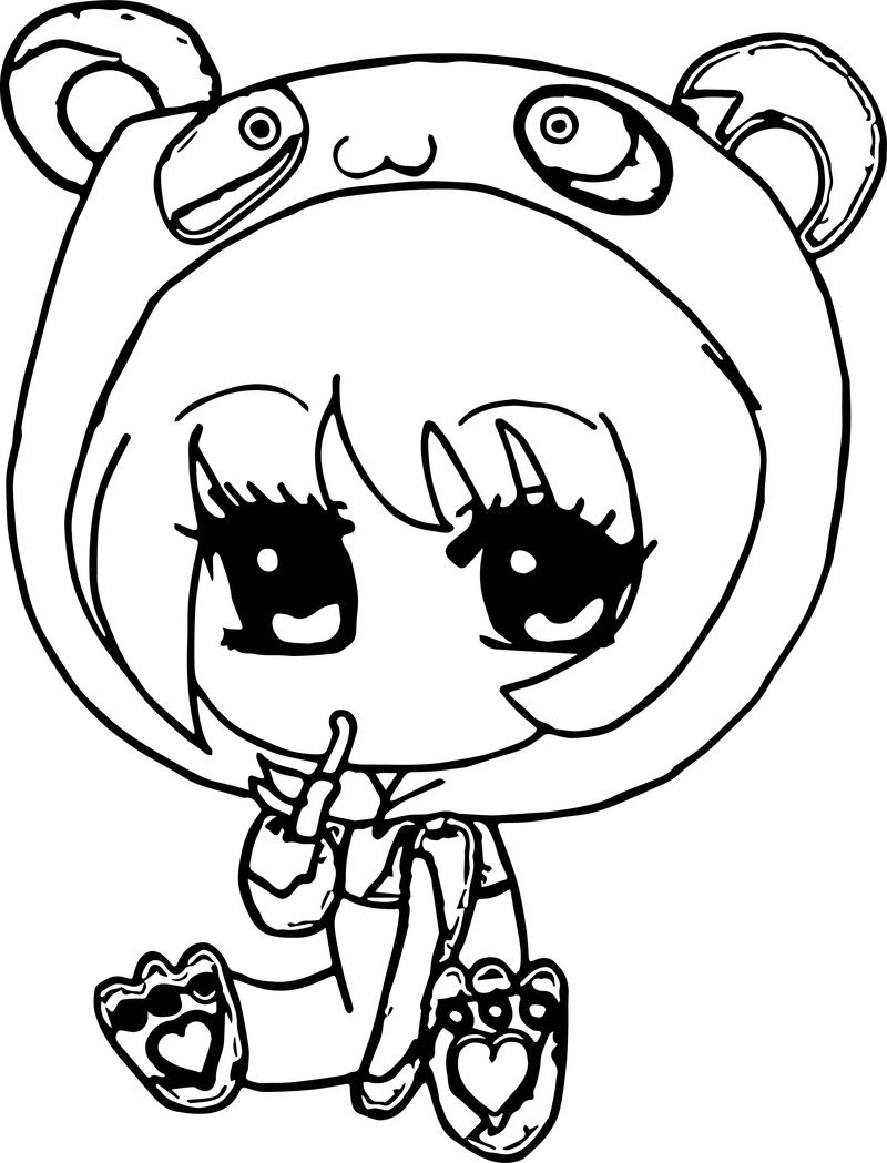 Anime Chibi Girl Coloring Pages