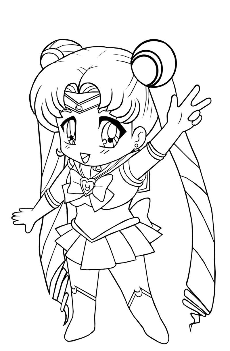Anime Coloring Pages For Girls 001