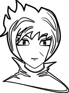 Anime man face coloring page