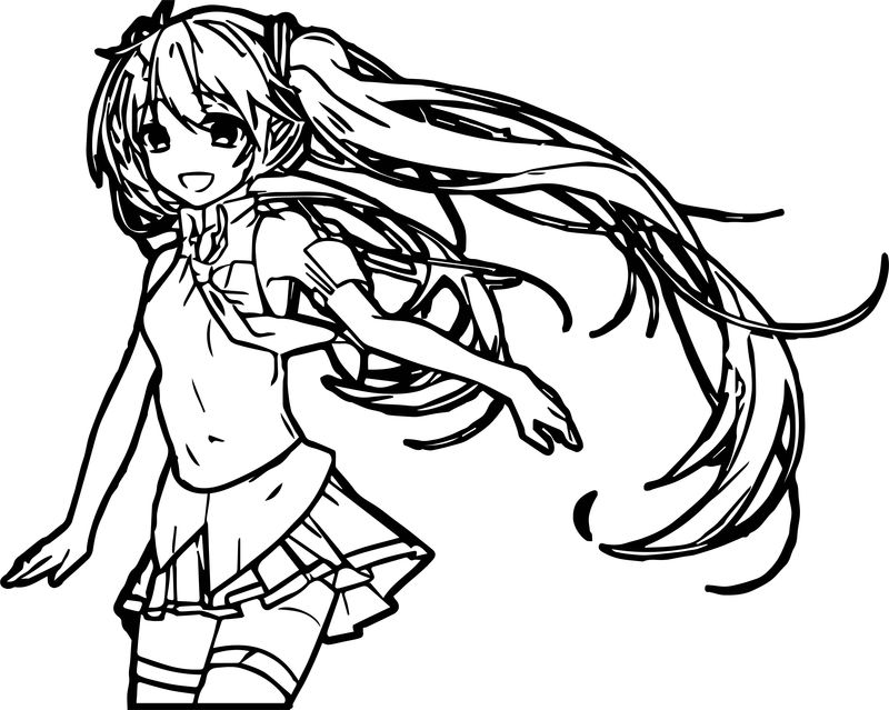Anime One Girl Coloring Page