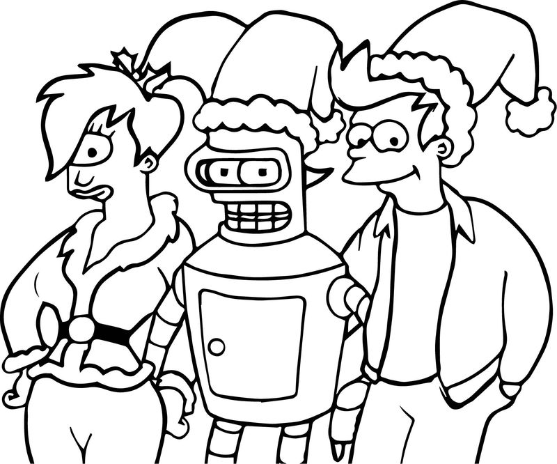 Anime Robot One Eye Girl And Boy Coloring Page