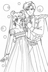 Anime wedding coloring pages 001
