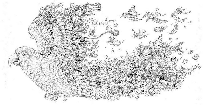 Animorphia Bird Coloring Book