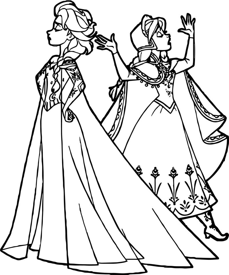 anna elsa offended coloring page  coloring sheets