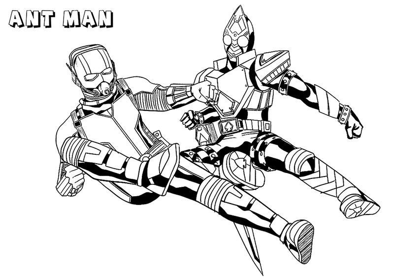 Ant Man Avengers Coloring Pages