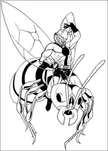 Ant man coloring page