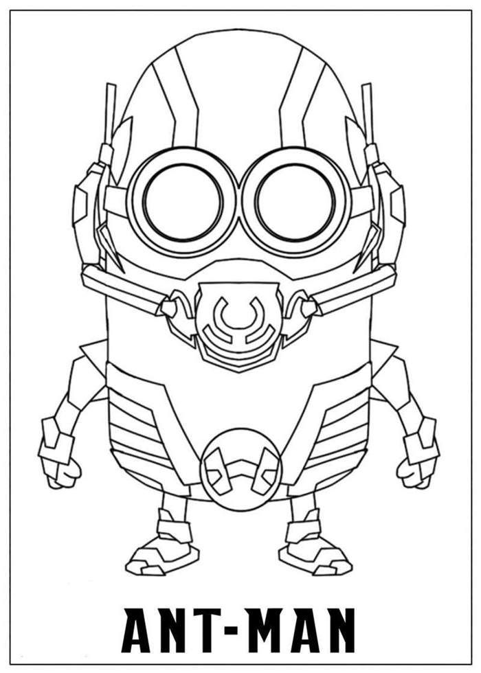 Ant Man Coloring Page Printables