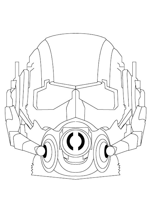 Ant Man Face Coloring Page