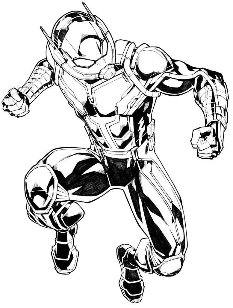 Ant Man Marvel Coloring Page