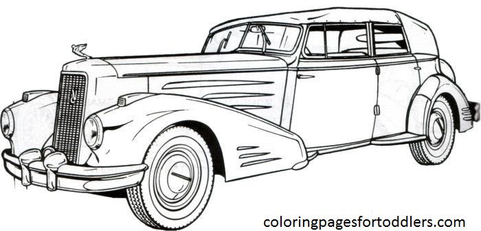 Antique Car Coloring Pages 10