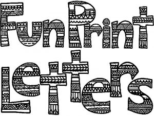 Any fun printed alphabet coloring page