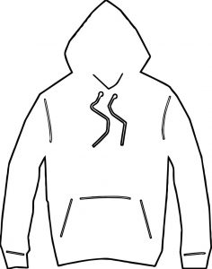 Any hooded jacket coloring page