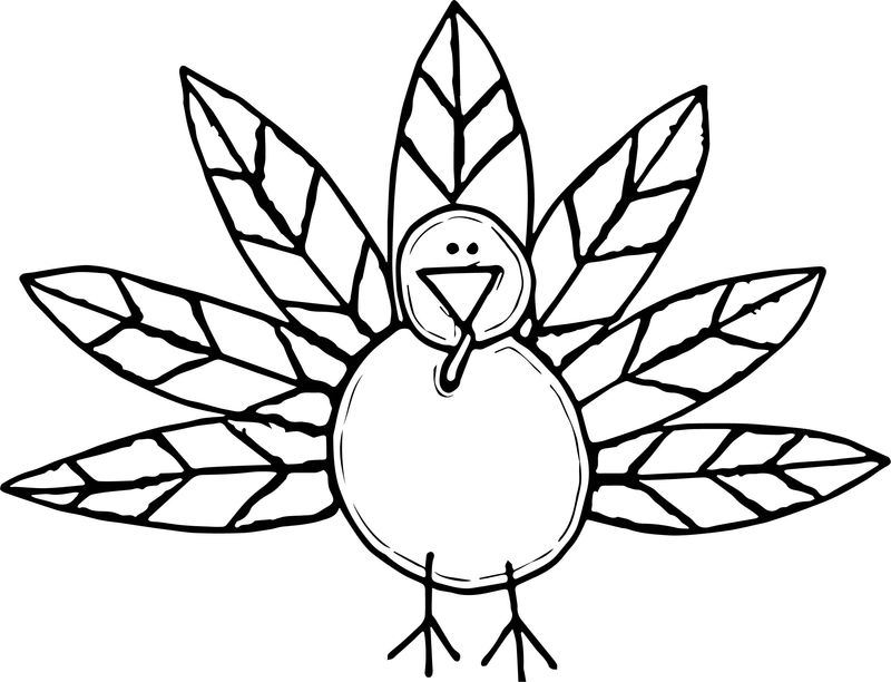 Any Thanksgiving Turkey Free Coloring Page