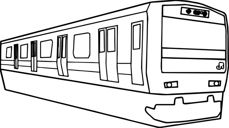 Any Yamanote Train Coloring Page
