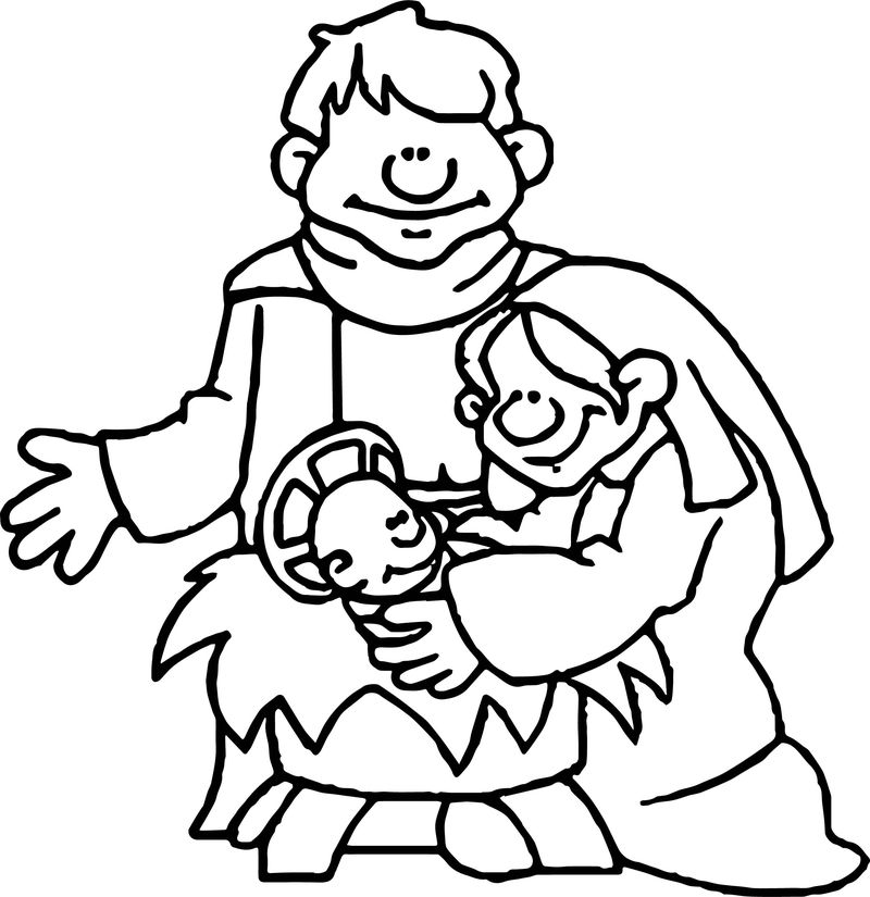 Apostle Paul Family Baby Coloring Page