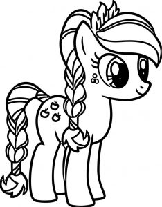 Apple my little pony coloring page