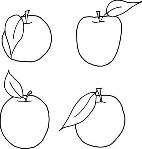 Apples for family tree template coloring page