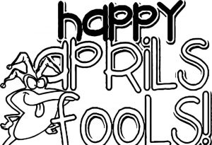April fool frog coloring page