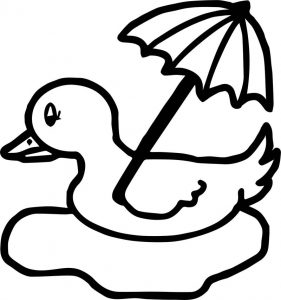 April showers chicken coloring page