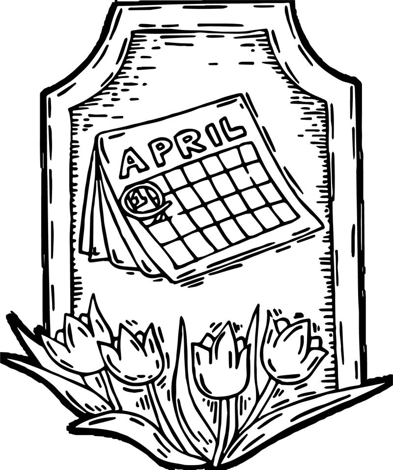 April Tulip Quotes What Great Writers Have Said Coloring ...