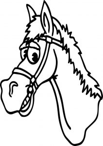 Arabian horse face coloring page