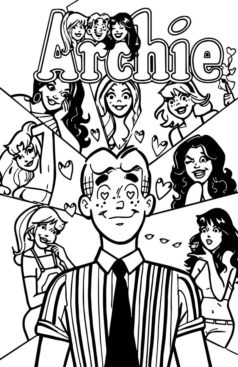 Archie Comics All Girls Love Coloring Page