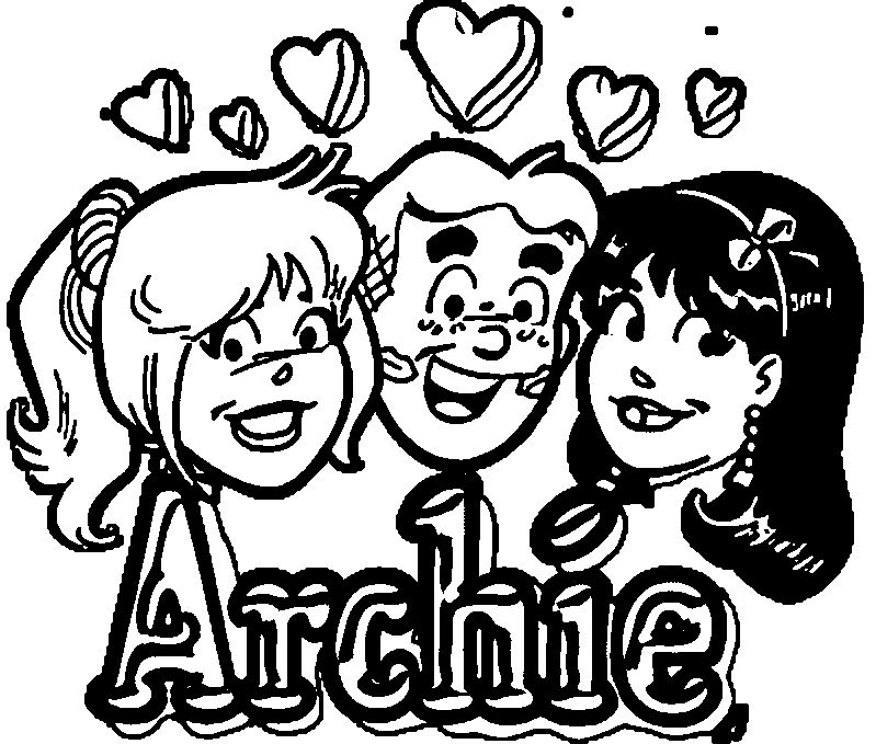 Archie Comics Girls Couple Love Coloring Page
